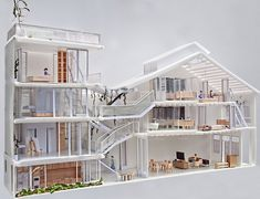 linghao architects: house 11 House N° model & presentation drawings: lim zhi rui and chan hui min Architecture Du Japon, Singapore Architecture, Installation Architecture, Architecture Office, Architecture Portfolio, Architecture Details, Chinese Architecture, Concept Architecture, 1920s House