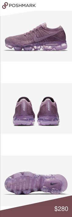 NIKE Vapormax Dusty Violet LIMITED EDITION COLLECTION!  *BRAND NEW IN ORIGINAL BOX. COMES WITH ORIGINAL RECEIPT. FLAWLESS.   • Coming from a smoke-free home.  • I only accept reasonable offers.  • Willing to trade for NEW items only. • Bundle 2+ items & get 10% off Nike Shoes Sneakers