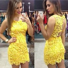 Lace Homecoming Dress,Yelllow Homecoming Dress,Yelllow Homecoming Dress,Lace Homecoming Dress,Short Prom Dress,Country Homecoming Gowns,Sweet 16 Dress,Simple Homecoming Dress,Casual Parties Gowns