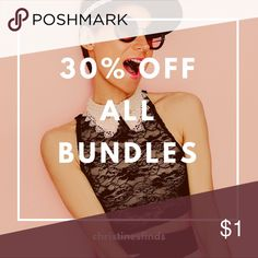 30% OFF BUNDLES 30% off all bundles of 2 or more. This weekend only. 1/6/18-1/8/18  Happy Shopping! Jeans