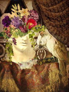 Still life with parrot - Donna  Pfister