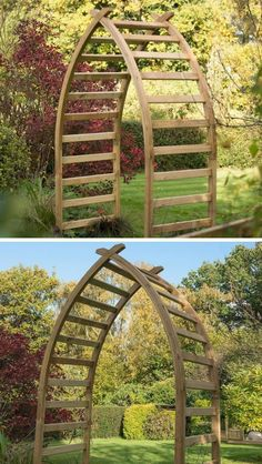 Buy Whitby Arches by Forest Garden — The Worm that Turned – revitalising your outdoor space Arch Trellis, Garden Trellis, Trellis Ideas, Garden Archway, Garden Gates, Forest Garden, Lawn And Garden, Wooden Arch, Cottage Garden Design