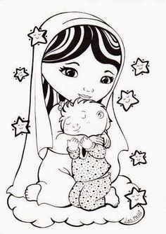 imagenes de la virgen maria en caricatura - Buscar con Google