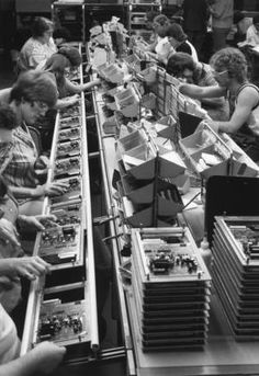 The 1980 assembly line at King Radio Corporation, which later was sold to Allied Signal and then merged with Honeywell