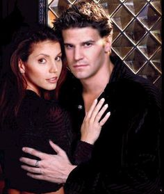 Cordelia Chase & Angel........ I truly loved them together. So sad when she died :(