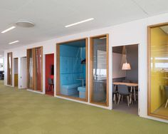 swedbank headquarters by 3XN in sundbyberg, sweden - colourful spaces for thinking time