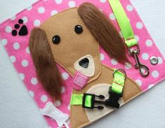 """Custom Hand-Crafted Quiet Book Page- """"Give the Dog a Bone ..."""