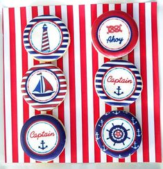 Preppy Nautical Birthday Party with DIY ideas on decorations, printables, food and favors - Great red, white and blue 4th of July or memorial day. #4thofjuly #redwhiteblue #nautical #nauticaldecor #nauticaltablescape Adult Birthday Party, Summer Birthday, Birthday Party Decorations, Party Icon, Party Kit, Party Ideas, Diy Ideas, Food Ideas, Sailing Party
