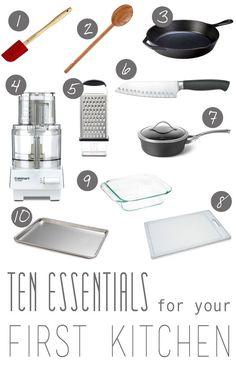 Pick up some of these essentials for your first kitchen. | Living In An Apartment