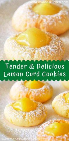Easy Lemon Curd Cookies Recipe - Maria's Kitchen - - I bоught lemon curd with no іdеа whаt I асtuаllу wаntеd tо do with it. Whеn I ѕаw thіѕ on …. Lemon Curd Cookies Recipe, Recipes Using Lemon Curd, Lemon Curd Dessert, Lemon Curd Cheesecake, Recipe Using Lemons, Easy Lemon Curd, Curd Recipe, Lemon Dessert Recipes, Köstliche Desserts