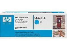 HP Color LaserJet Q3961A 2550 Series Cyan OEM Toner Cartridge  Product:OEM Toner Cartridge  Color: Cyan  Page Yield: app. 4,000 pages @ 5% c...