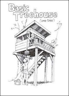 Cómo construir Treehouses, Huts y Fuertes por Stiles diseños.