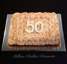 Snickerdoodle Sheet Cake Happy 50th Birthday! #MillionDollarDesserts
