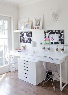 63 Trendy Home Office For Two People Life Home Office Design, Home Office Decor, Home Decor, Office Organization At Work, Office Ideas, Desk Areas, Desk Space, Affordable Furniture, Trendy Home