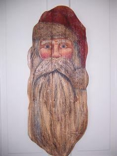 Santa on Barnwood
