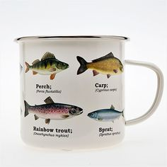 I don't know why I like this Fish mug, enamel coated for $16. I have absolutely no clue.