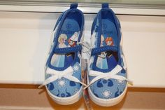 Frozen Canvas Shoes Girls Disney Sneakers Elsa Anna Kids Slip Character Size 5 #Disney #CasualShoes