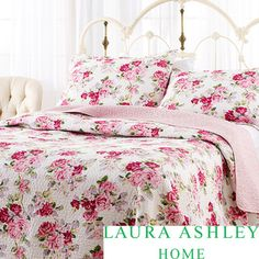Laura Ashley Lidia 100-percent Cotton 3-piece Reversible Quilt Set | Overstock.com Shopping - Great Deals on Laura Ashley Quilts