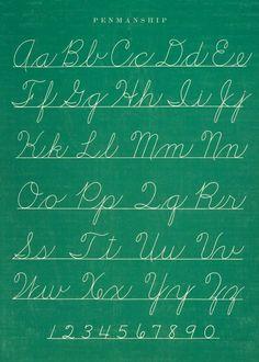 Cavallini & Co. Chalkboard Penmanship Chart Decorative Decoupage Poster Wrapping Paper Sheet:Amazon