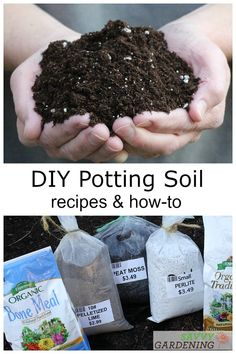 6 DIY potting soil recipes from a horticulturist. Blend your own container potting mixes for houseplants, seed starting, and more using common ingredients from the garden center. Save money by using homemade potting soil! Backyard Vegetable Gardens, Container Gardening Vegetables, Garden Soil, Garden Beds, Organic Soil, Organic Gardening, Indoor Gardening, Gemüseanbau In Kübeln, Growing Vegetables