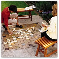 DIY backyard scrabble