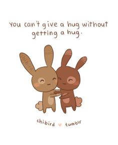 I want some chocolate bunny hugs right now. c: