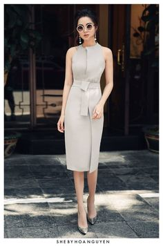 Office dresses, dresses for work, classy outfits, trendy outfits, vestido s Elegant Dresses For Women, Pretty Dresses, Beautiful Dresses, Casual Dresses, Short Dresses, Fashion Dresses, Dresses For Work, Dress Outfits, Dresses Dresses