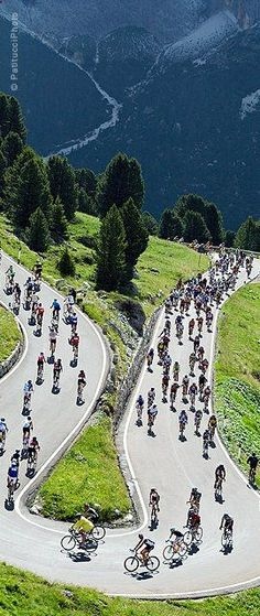 Road bike races must look cool from the outside...