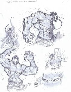Splatter house warmup sketches by JoeyVazquez.deviantart.com on @deviantART