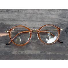1920s Vintage oliver retro eyeglasses 23R10 Brown round frames eyewear rubyruby