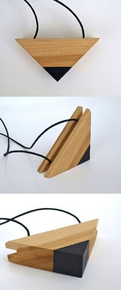 Timber Necklace  Black Tri by FurrowSouth on Etsy, $65.00
