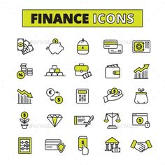 Finance Icons Set Line #design Download: http://graphicriver.net/item/finance-icons-set-line/14074641?ref=ksioks
