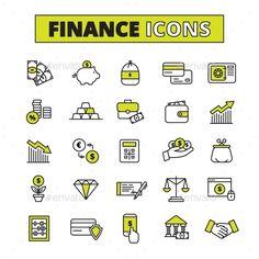 Finance Icons Set Line #design Download: http://graphicriver.net/item/finance-icons-set-line/14074641?ref=ksioks