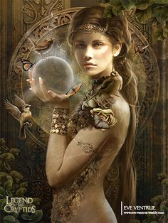 Artist: Eve Ventrue aka EVentrue - Title: gaia - Card: Goga, Matriarch of Gonna
