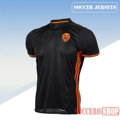 3ef6b0fb18d66 Latest Valencia Black Orange 2016 2017 Away Soccer Jersey Replica Bargain  From China