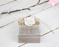 Ring Bearer Box, Wedding Ring Box, Personalised Wedding Ring Box, Ring Bearer Pillow, Rustic Wedding Ring Holder, Pillow Bearer Box by SimplyCosyMBA on Etsy