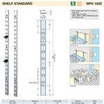 SG-SPH-1820 Shelf Standard 6FT in 304 Stainless Steel
