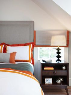 Use ribbon and fabric glue to transform plain white bedding and window treaments into custom pieces with a colorful accent. Vote for Your Favorite Color Palette on HGTV.com >> http://www.hgtv.com/design/packages/color-vs-color/vote-for-your-favorite-color-palette?soc=pinterest