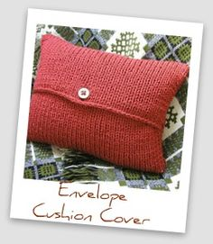 Envelope cushion cover by Hand KNitted Things