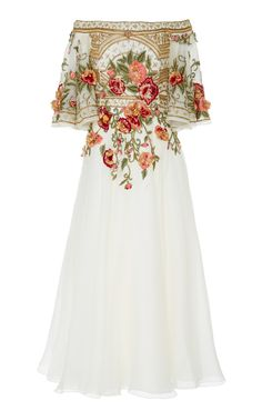 Shop Off-The Shoulder Embroidered Silk-Organza Dress. Marchesa's off-the-shoulder dress is impeccably made from silk-organza. Beautiful Gowns, Beautiful Outfits, Beautiful Life, Pretty Outfits, Pretty Dresses, Cool Dresses, Mini Dresses, Organza Dress, Silk Organza