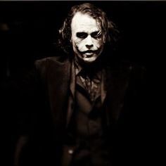 "Heath Ledger as the Joker in ""A Dark Knight"" (2008):"