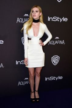 Nicola Peltz at the 'InStyle' and Warner Bros. party. Photo: Frazier Harrison/Getty Images.