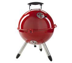 Dehner Charcoal Grill, John, Diameter 30cm, Steel, Red, 48x 38x 38cm 3101698