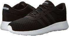 adidas NEO Women's Lite Racer W Running Shoe, Black/Black/White, 11 M US