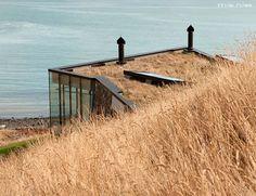 Deniz manzarası geri çekilme çim çatı IIHIH