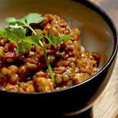 Spicy Indian Masoor Dhal... Masoor dhal are red lentils and this spicy red lentil dish can be enjoyed as a starter, or as a main with rice or naan...