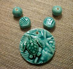 Swimming Sea Turtle Set by Michelle Ann McCarthy.