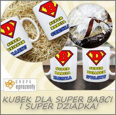 Praktyczny i zabawny prezent! Zestaw kubków 'Super Babcia' 'Super Dziadzio' doskonale ożywi każde wnętrze i będzie oryginalnym podarunkiem!  http://bit.ly/14O8519