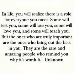 In Life.....
