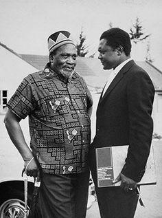 Jomo Kenyatta and Tom Mboya in Gatundu.